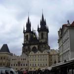 Kościół Marii Panny przed Tynem z Rynku Staromiejskiego